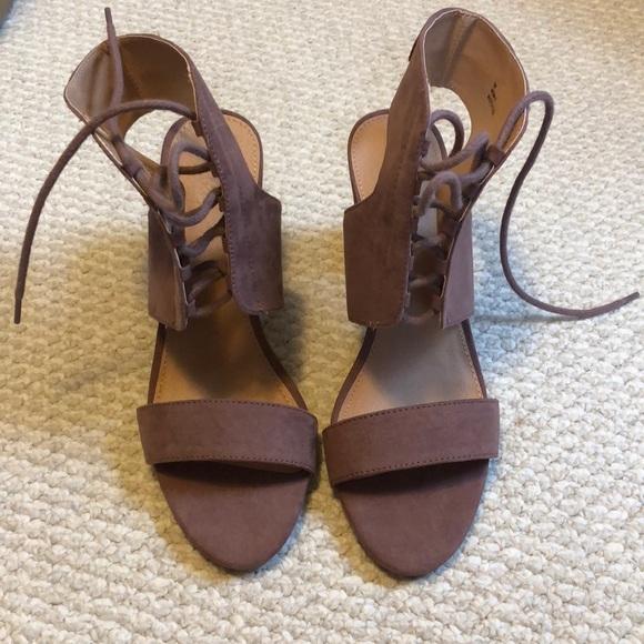 b7abb0c38e39 Charlotte Russe Shoes - NWOT Charlotte Russe mauve lace up sandals